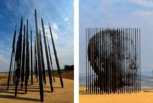 Mandela's statue in Soweto