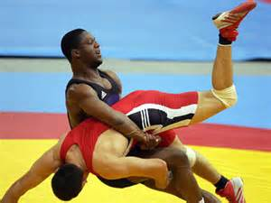 Wrestlers.