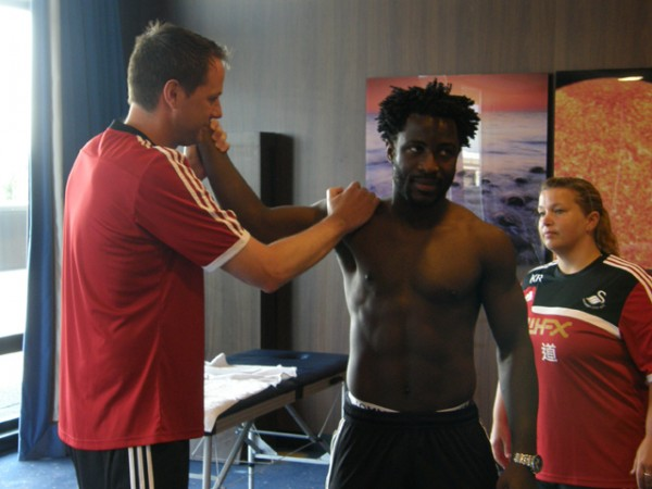 © Swansea FC. Wilfried Bony Completes His Medical in Holland.