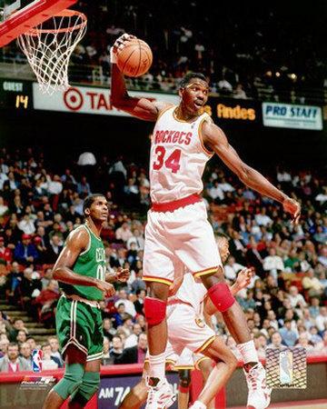 "Hakeem ""The Dream"" Olajuwon's Career Flourished at the Houston Rocket, Winning Back-to-Back NBA Titles."