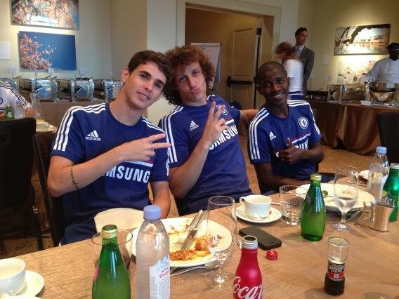 The Trio of Oscar (left) Luiz (centre) and Ramirez (right) After Dinner.