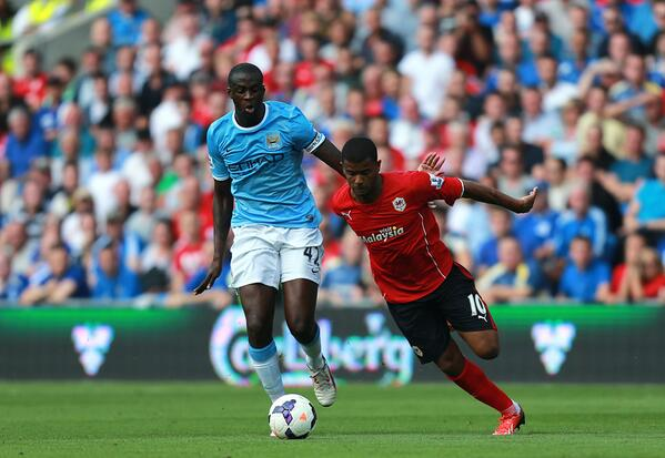 Campbell Was a Thorn in the Man City's Defence Throughout the Duration of the Game.