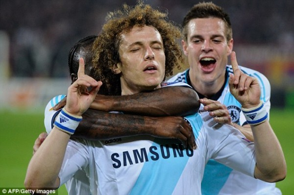 David Luiz Scores For Chelsea Against Basel in Last Season's Europa Cup Campaign.