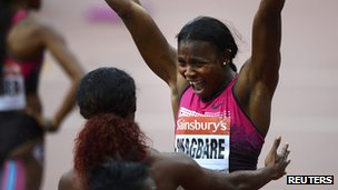 Blessing Okagbare Will Look to Add to Her Silver Medal in the 200m Tomorrow.