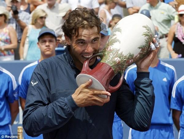Rafael Nadal Wins the Cincinnati Masters in Ohio.