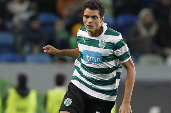 Portugal International Tiago Ilori in Action For Sporting Lisbon.