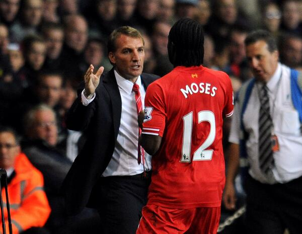 Rodgers Hugged Moses After the Nigerian was Substituted.