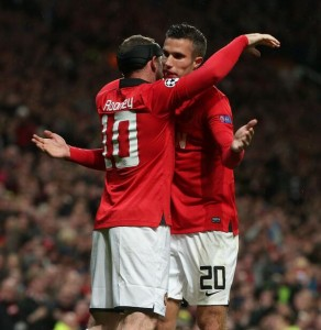 Partners: Rooney and Van Persie Were on Target Last Season in This Same Fixture.