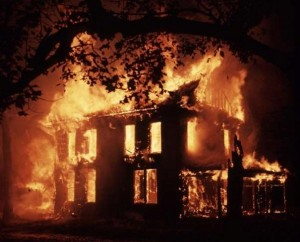 file image: house on fire