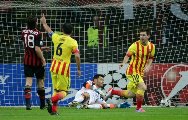 Lionel Messi Leveled for Barca at the San Siro.