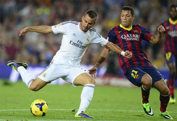 Jesse Rodriguez's Effort Could Only Console the Visiting Fans as the Los Blancos Fell Six Points Behind Barca.