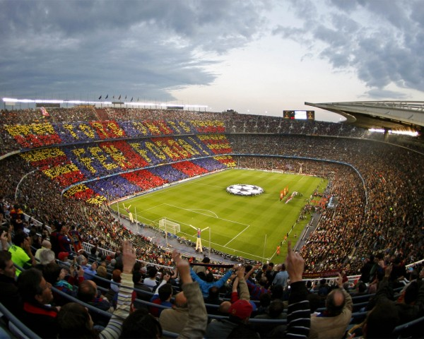 Football's Temple: Camp Nou is Home of the Catalan Giants Barcelona FC.