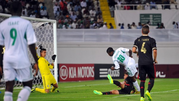 Getty Image: Iheanacho Scores His Fourth Goal in a 2013 Fifa Under-17 World Cup Group F Match Against Mexico in Al Ain.
