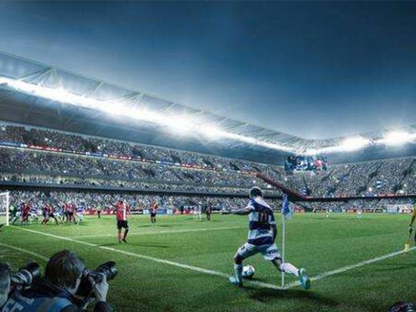A Model of QPR's Old Oak Road Stadium.