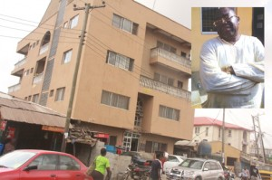 the hospital where babies were detained inset: Dr Afolabi