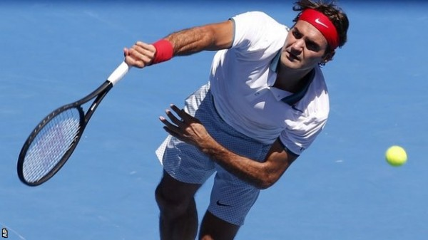 Federer beats Australian James Duckworth to Reach Australian Open Round Two Image: AP.