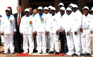 The Queen's Baton Relay Arrives In Nigeria. Photo: OP via PM News.