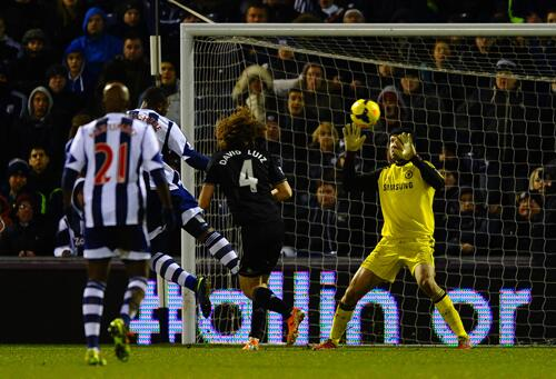 Victor Anichebe Scores a Late Leveler Against Chelsea on February 12.