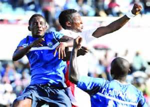 Nigeria National League Players in Action.