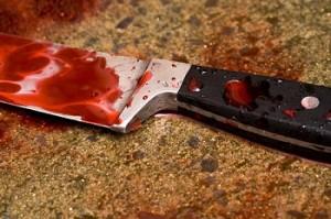 machete stained