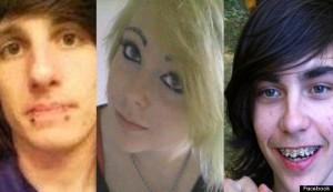 Suspects Jess Taylor, 17, Jenna Montgomery, 15, and Blue Kalmbach, 15
