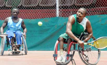 Nigeria Wheelchair Tennis Players in Action.
