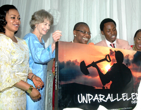 FROM LEFT: CHAIRMAN, FINANCE COMMITTEE, LAGOS HOUSE OF ASSEMBLY, MRS  FUNMI TEJUOSO; WIFE OF THE U.S. AMBASSADOR TO NIGERIA, PAMELA SCHMOLL; FORMER VICE PRESIDENT, WORLD BANK (AFRICA),DR OBIAGELI EZEKWESILI; CREATIVE ARTIST OF THE FUTURE 2012 AWARD WINNER, BAYO OMOBORIOWO AND WIMBIZ CHAIRPERSON, OSAYI ALILE, AT THE LAUNCH OF 100 UNSUNG HEROINES PROJECT IN COMMEMORATION OF INTERNATIONAL WOMEN'S DAY IN LAGOS ON FRIDAY (7/3/14)