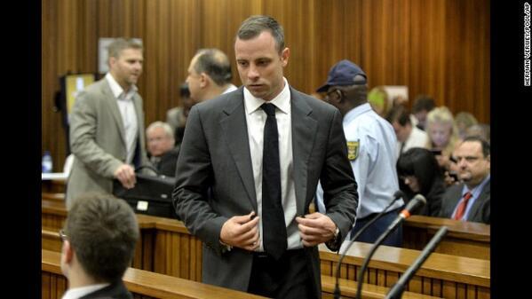 Steenkamp's Murder trial Hears That Paralympian Pistorius Was Not Wearing His Prosthetic Leg When He Broke Down the Door to Retrieve the Remains of His Deceased Girlfriend.