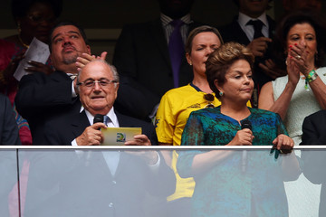 Sepp Blatter and Dilma Roussef During the Opening Ceremony of the 2013 Confederation Cup.