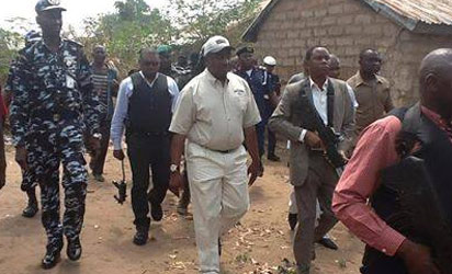GOV. GABRIEL SUSWAM INSPECTING VILLAGES RAZED BY FULANI HERDSMEN