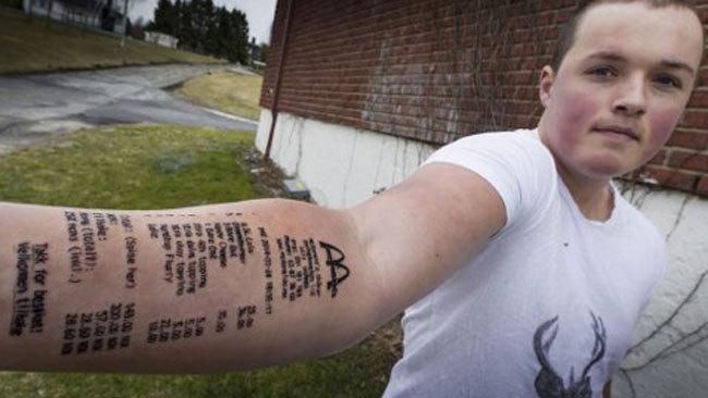 0467429c9 'Loyal Customer' Gets Tattoo Of McDonald's Receipt - Information Nigeria