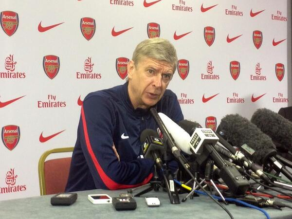 Arsene Wenger During the Pre-Match Media Briefing for Sunday's League Game at Hull.