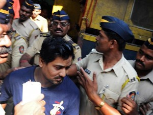 double gang-rape convict Mohammed Salim Ansari is taken to court in Mumbai on April 4, 2014.  Photo: AFP