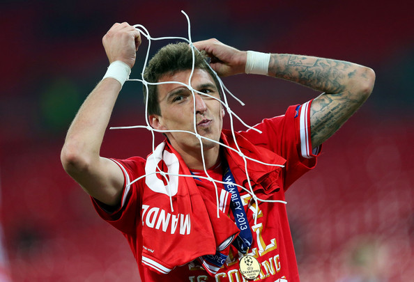 Mario Mandzukic Pictured After Clinching the Champions League With Bayern Munich at the Wembley Stadium.