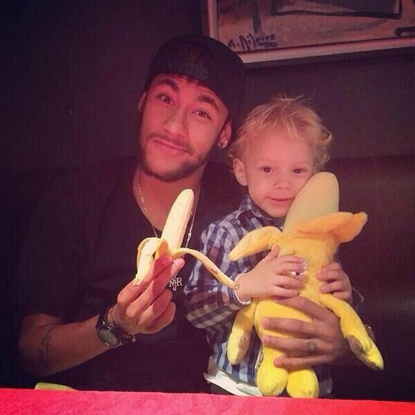 """Neymar Posted This on Instagram With a Caption: """"We are All Monkeys""""."""