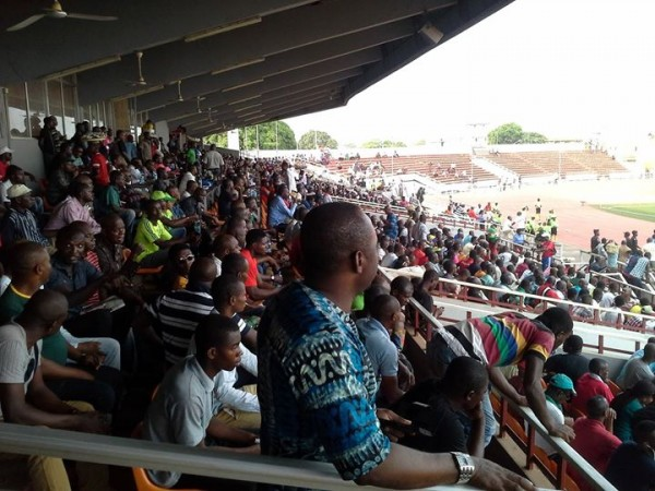 Supporters Gathered at the Nnamdi Azikiwe Stadium for a Glo Premier League Match.