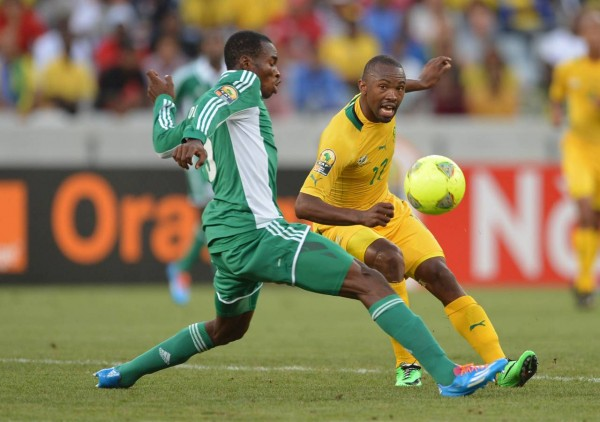 Kunle Odunlami Playing for Nigeria During the 2014 African Nation's Championship. Image: Caf via BackPagePix.