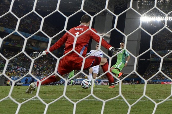 Odemwingie Became the First Player to Score Against Club Team-Mate in Fifa World Cup History, With This Strike Against Fellow Stoke Player Begovic.