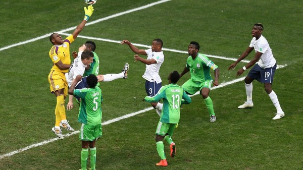 Vincent Enyeama Flaps Away Valbuerna's Corner For Pogba's Goal. Fifa via Getty Image.