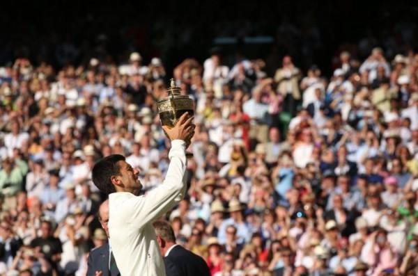 Novak Djokovic Relishes Wimbledon 2014 Success. Image: AELTC.