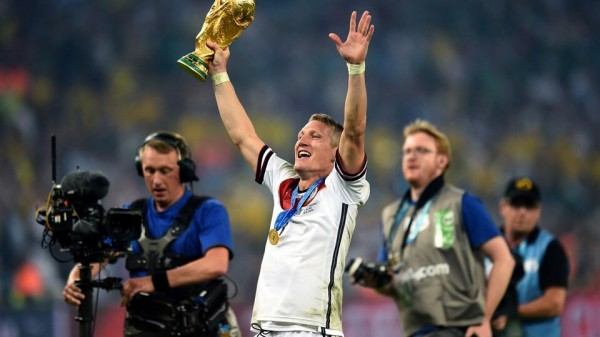 Schweinsteiger Won the 2014 FIFA World Cup With Germany. Image: Getty Image.
