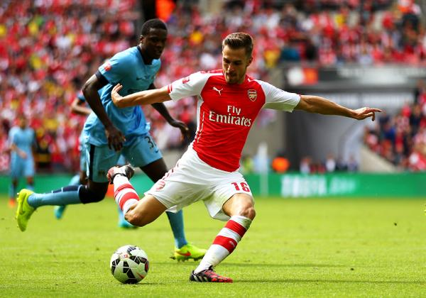 Aaron Ramsey Also Scored His Second Goal at Wembley Since Last Season's FA Cup. Image; Getty Image.
