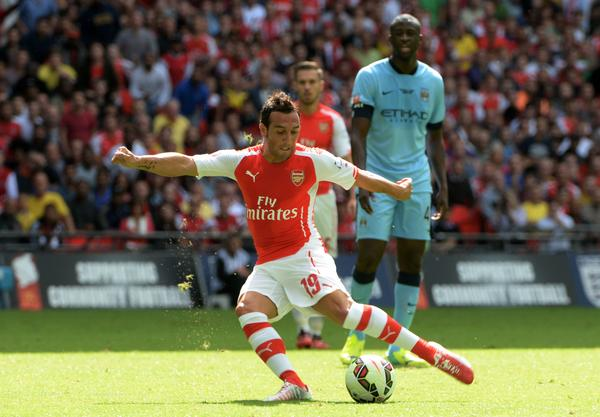 Santi Carzola Placed the Gunners in the Lead in the Opening Quarter of Sunday's Community  Shield at Wembley.