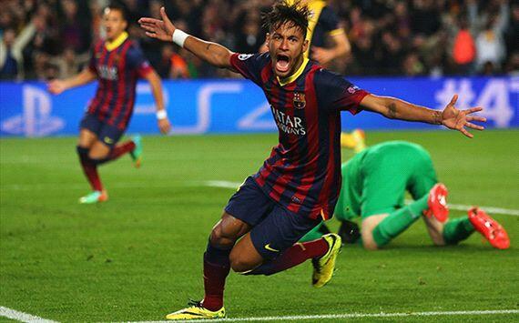 Neymar Celebrates Goal vs Atletico