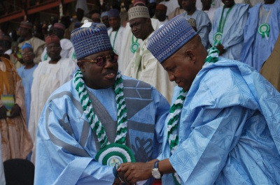 GOV. KASHIM SEHTTIMA & SEN. ALI MODU SHERIFF (L) WHEN THE GOING WAS TILL GOOD