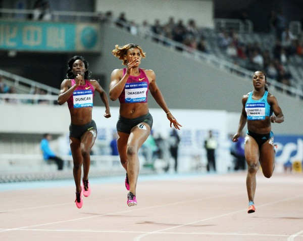 Blessing Okagbare Broke the 200m Meet Record at the Shanghai Diamond League in May 2014. Image: Getty.