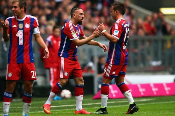 Franck Ribery Made His Comeback from a Back Injury on Saturday and Even Scored Against Stuttgart. Image: Getty.
