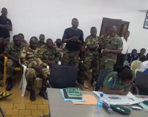 File photo: soldiers arraigned over mutiny
