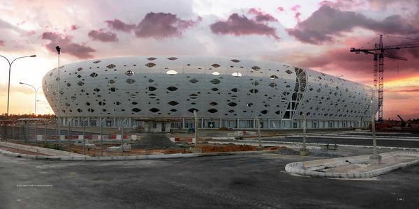 The Exterior View of the Akwa Ibom International Stadium. Image: AfricanSoccerUpdate.