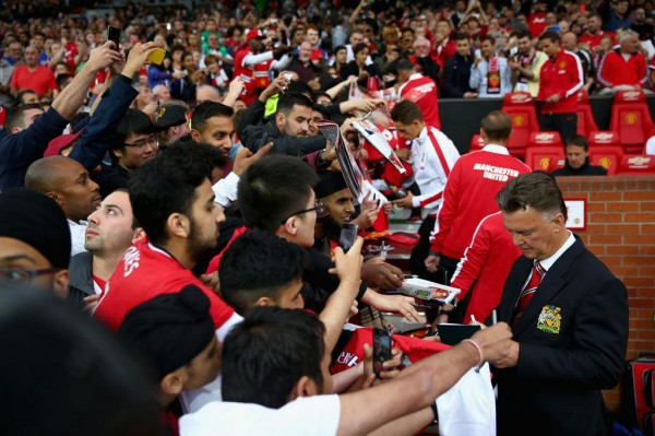 Manchester United Louis van Gaal Says the Game Against Chelsea Could Signal the Birth of a New Era at Old Trafford. Image: Getty.